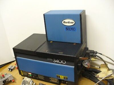Nordson 3400 Hot Melt Glue Tank, Gluer Model 3400-2EA12/AP for 2 Hoses & 2 Guns