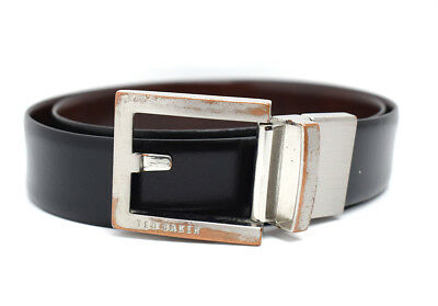 cc2f9463d TED BAKER REVERSIBLE Classic Mens Leather Belt Black   Brown Size 34 ...