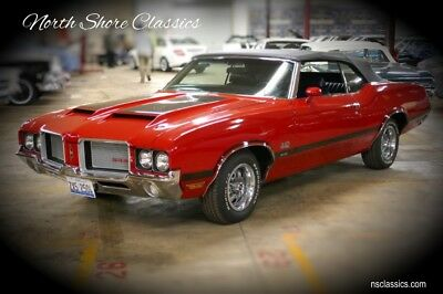 442 -W30 CODE CONVERTIBLE- 1 OF 113 EVER BUILT-NUMBERS 1972 Oldsmobile 442