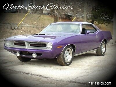 Barracuda/Cuda - 2017 COMPLETE NUT AND BOLT RESTORATION- BROADCAS 1970 Plymouth Barracuda/Cuda, Plum Crazy Purple with 8 Miles available now!