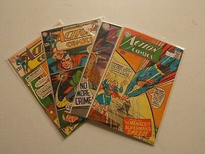 Silver Age Action Comics Lot #367, 368, 370, 371