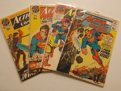 Silver Age Action Comics Lot #398, 399, 400, 401