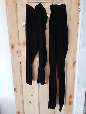 ASOS Maternity Over Bump Leggings Size 16 2x pairs one long one cropped