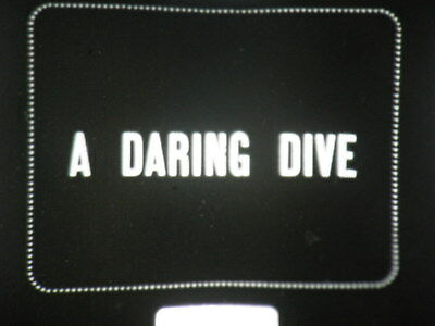 "9.5mm NOTCHED 30 FT FILM  "" A DAREING DIVE""  PATHESCOPE LATE  1920s TORQUAY ,"