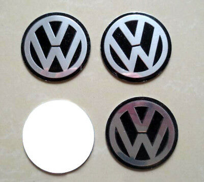 vw 4 x 60mm aufkleber aluminium felgen emblem logo f r. Black Bedroom Furniture Sets. Home Design Ideas