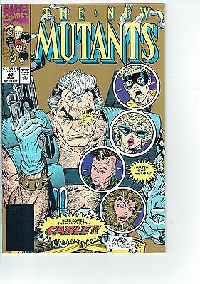 New Mutants #87 (2nd print) 1st CABLE new star of DEADPOOL 2  Storebox find NM+