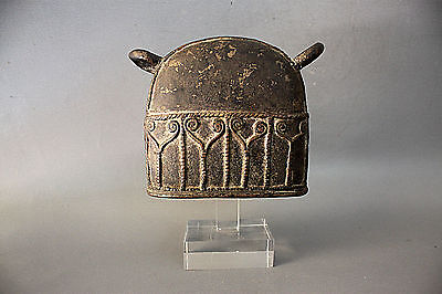 7#Antique Bronze Elephant Bell With Clear Stand Beautiful Rare Cheap Don't Miss