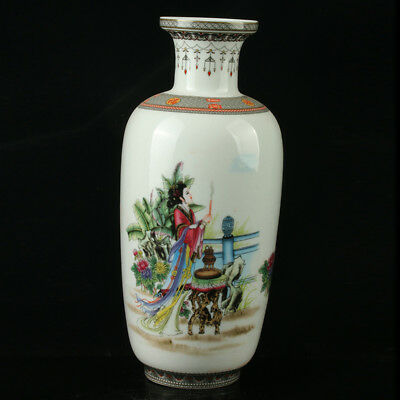 China Pastel Porcelain Hand Painted Vase Mark As The Qianlong R1079