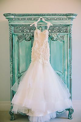 Stunning Suzanna Blazevic Custom Couture French Lace Wedding Dress Sz 6-8 $7000
