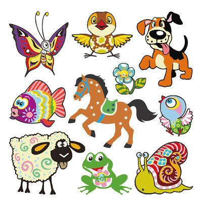 Animals Iron On Patch DIY Heat Transfer Sticker Applique Clothing T-Shirt Decor