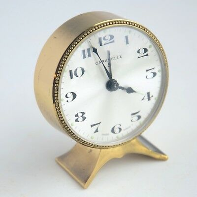 Caravelle 8 DAY ALARM CLOCK SWISS MADE Working Great!!!
