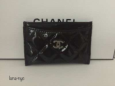 Chanel VIP Gift Black Patent Card holder
