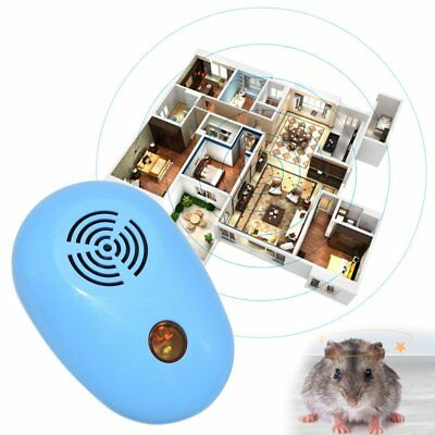 Electronic Ultrasonic Anti Pest Mosquito Cockroach Mouse Killer Repeller OQ