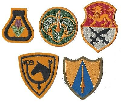 Group of intewar & later Cavalry patches