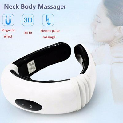 Tens Machine Pain Relief Digital therapy Neck&Body Massager Acupuncture Back @