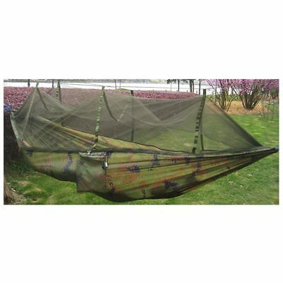 Double Person Travel Outdoor Camping Tent Hanging Hammock Bed & Mosquito Ne N2X4