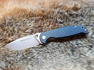 Real Steel H6-S1 Folding Pocket Knife Carbon,β plus Lock Up System Sandvik14C28N