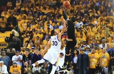 Original Steph Curry & Kyrie Irving signed 12x8 picture Golden State Cleveland 1