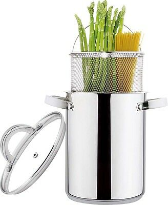 Spaghetti Cooking Pot with lid Stainless Steel Asparagus Pot Induction Pasta