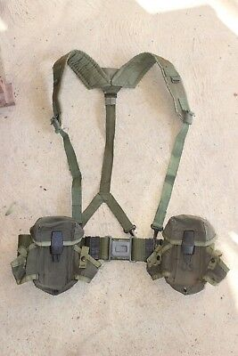 US Army Surplus Belt LC-2, A.L.I.C.E Y Suspenders and 2X M16 Ammo Pouch combo.