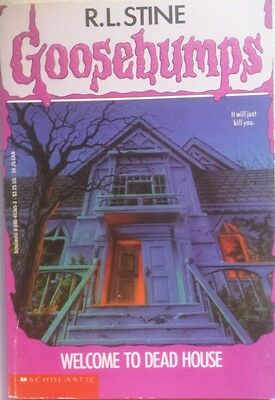 Goosebumps,  #1 Welcome To Dead House,   By R.L.Stine,  GC~P/B  FAST~N~FREE POST