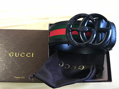 New Black Buckle Snake GUCCI-Men's Classic Leather Vintage Belt 110CM