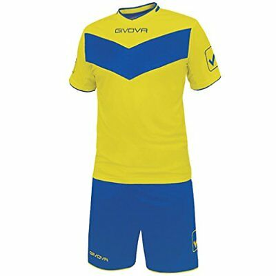 Givova Vittoria, Kit Calcio Unisex - Adulto, Multicolore (Giallo/Royal), (R9T)