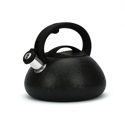 Black Whistling Kettle 3L Stainless Steel Hob Stove Gas Induction Fast Boil Gift