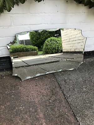 Vintage Beveled Edge Frameless Mirror Lovely Mirror Art Deco Frameless Art Deco