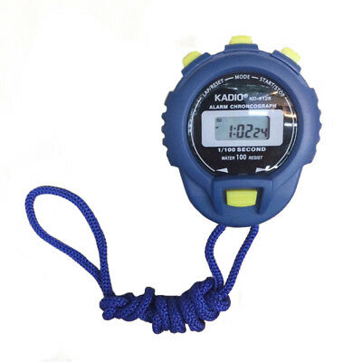 KADIO LCD Chronograph Digital Timer Stopwatch Sport Counter Odometer Watch H0S5