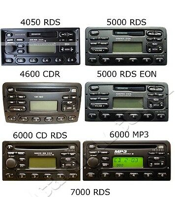 Ford Focus 1998-2004 MK1 MK1.5 Factory Visteon Radio Stereo Decode Unlock Code