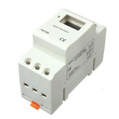 DIN Rail Digital LCD Power Programmable Timer AC 220V 16A Time Relay Switch U7D1