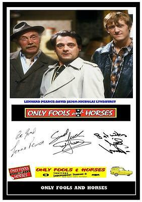 123.    Only Fools And Horses   Delboy  Signed    A4  Photograph .....
