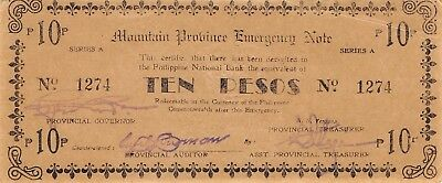 Philippines  10  Pesos   ND.  1943  Series A  WWII issue  Circulated Banknote