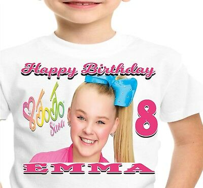 JoJo Siwa Birthday Shirt Shirts T-Shirt TShirt Party Supplies Personalized Girl