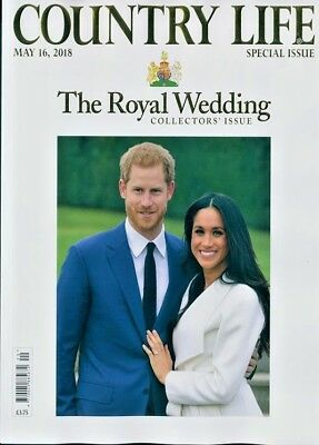 COUNTRY LIFE MAGAZINE 16th MAY 2018 ~ THE ROYAL WEDDING COLLECTOR'S ISSUE~ NEW ~