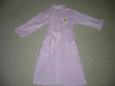 GIRL\'S DISNEY PRINCESS Pink Dressing Gown / robe 5-6 years ...