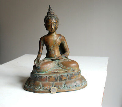 ancien grand Buddha Bouddhiste Bouddha bronze