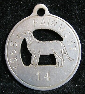 Fairmont Nebraska NE dog tag license 1965