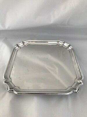 Solid Silver Georgian In Style Drinks Tray 1927 WILLIAM HUTTON