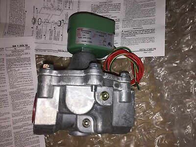 ASCO 8040C004CSA 120/60AC 2-Way Aluminum 1 In Solenoid Gas Valve .5 PSI
