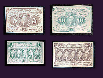 FRACTIONAL CURRENCY Lot 5/10/25/50