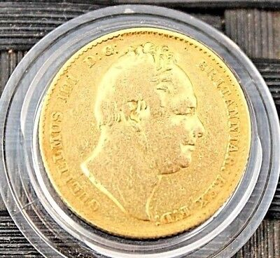 Fine Condition 22ct Gold King William IV Sovereign 1835