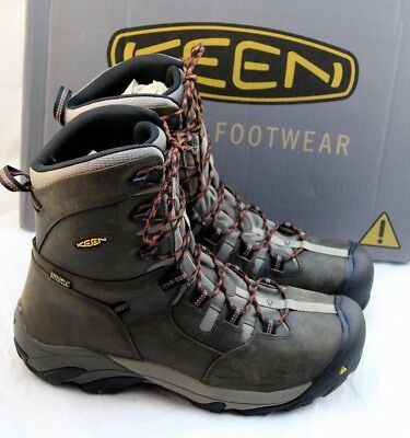 "New KEEN Utility Detroit Size 12 D Steel Toe 8"" Men's Work Boots RETAIL $200"