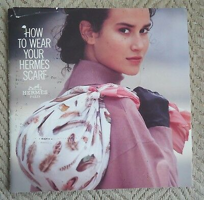 """Rare Vintage HERMES """"HOW TO WEAR YOUR HERMES SCARF"""" 1988 8"""" X 8"""" 31 pages"""