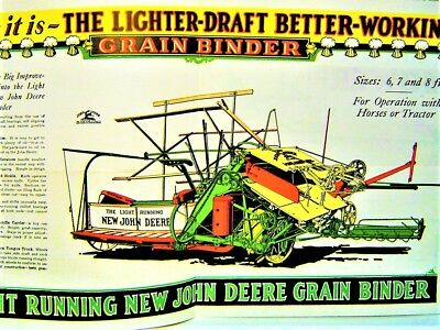 JOHN DEERE The Furrow 1926 Advertising with colorful insert RARE