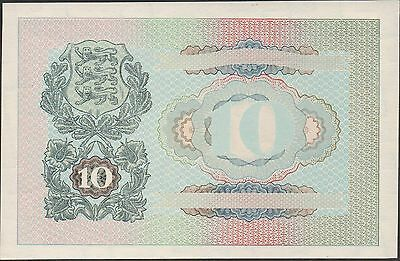 Estonia , 10 Krooni , ND. 1940 , P 68p1 , back proof in full color , Cat.$500.00