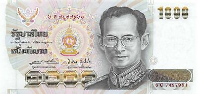 Thailand  1000  Baht  ND 1992  P 92  Series  6 C Sign # 64 Uncirculated Banknote
