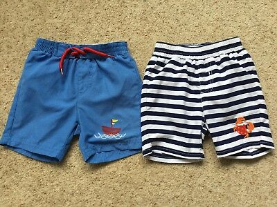 2 Pairs Baby Boys Net Lined Shorts From Mothercare Age 6-9 Months  Ex Cond