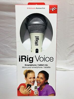 IK Multimedia iRig Voice Karaoke Mic for Smartphone/Tablet-White IP-IRIG-MICVOW